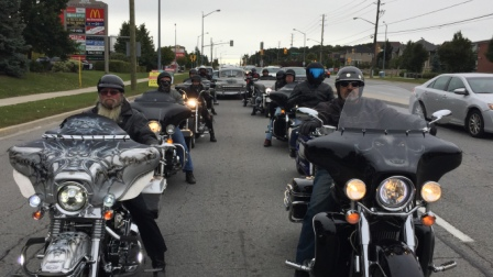 a pack of motorcycles