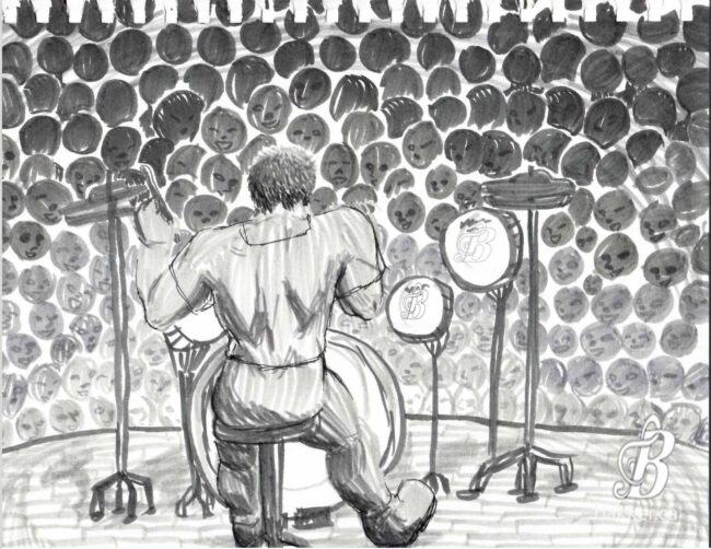 BAEgelAndCheese Drew A Picture Of Me Playing Drums