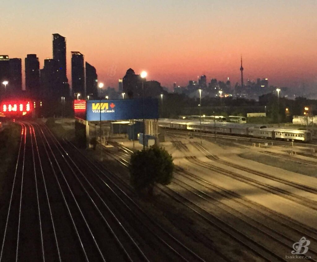 Sunrise over the Toronto Skyline