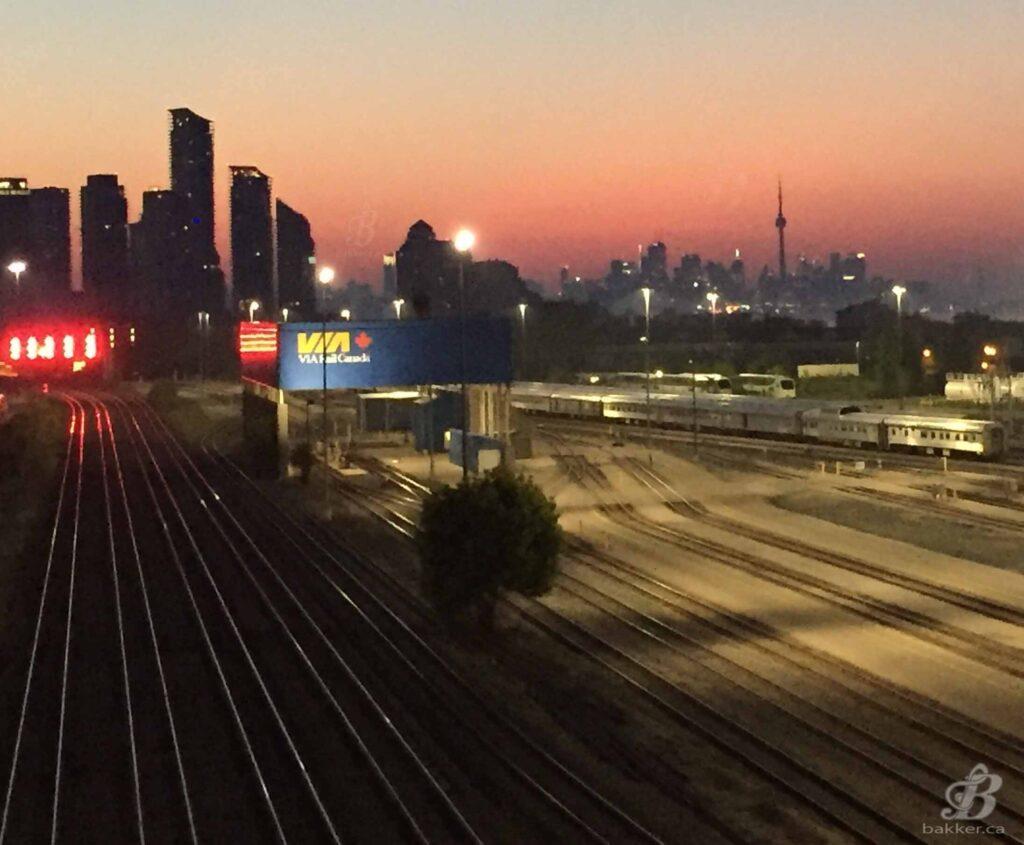 Sunrise over the Toronto Skyline