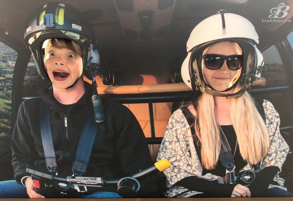 BakkerBoy and BAEgel flying a chopper